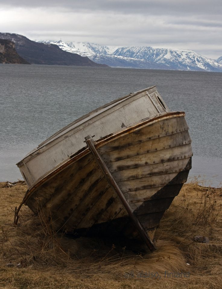 Old boat in Northern Norway by Aili Salo-Alaiso