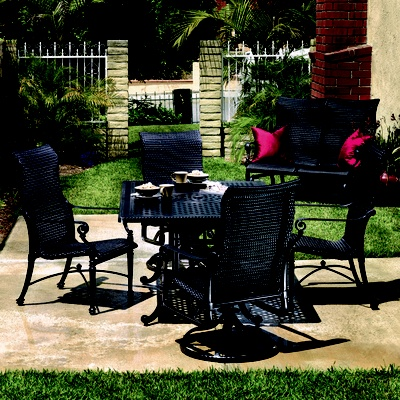 Grand Terrace Wicker Sling Dining Grand Terracewicker Furnitureoutdoor
