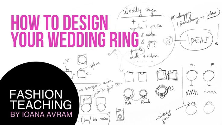 Jewellery Design Process-Hand Drawn Jewellery Sketches: wedding ring