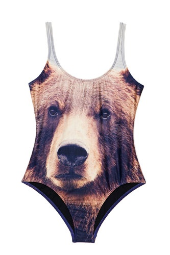 Nuts!: Bathing Suits, Fashion, Style, Teddy Bears, Bears Suits, Bears Swimsuits, Bath Suits, One Piece, Grizzly Bears