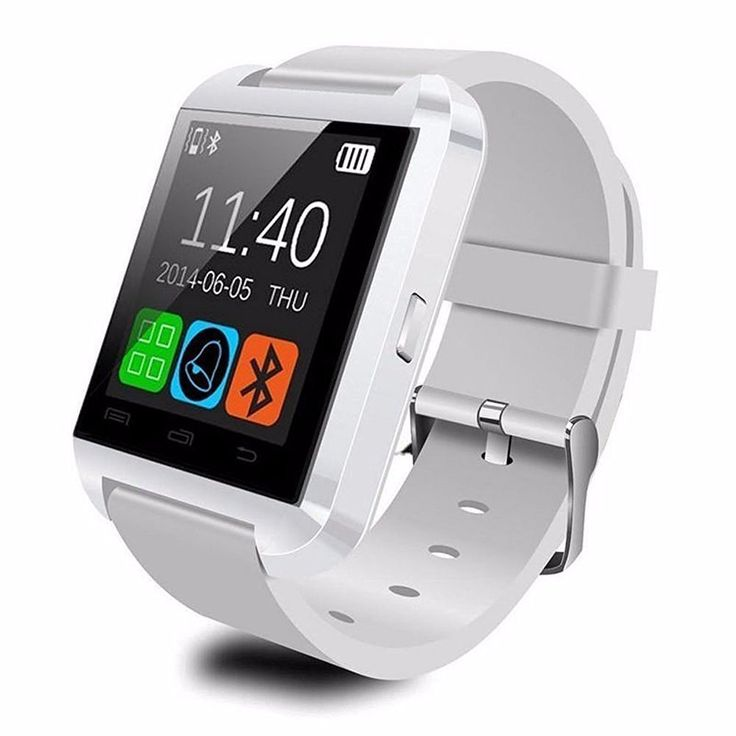 "Polysun U8 Smart Watch Bluetooth Android Smart Mobile Phone Wrist Watch (White). Ring reminder when your Android 2.3 or above smart phone receive a message (including Wechat, Facebook, Twitter,WhatsApp, Skype,and so on). Sync phone book/SMS/call history(only for android phone). Support hands-free calls, Answer or Dial calls from your wrist. Remote taking photo function:You can control your cellphone to take photo from your wrist. Need install ""BTNotification"". Play the music in your phone..."