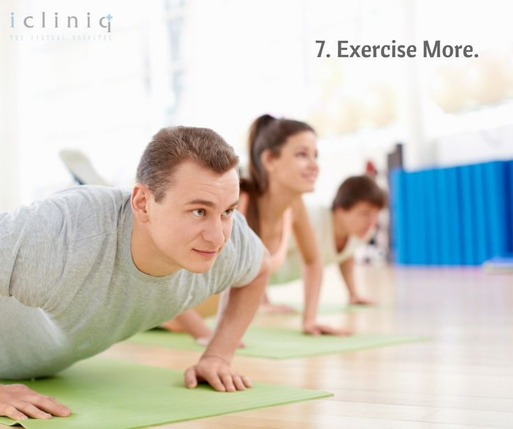 Exercise More.