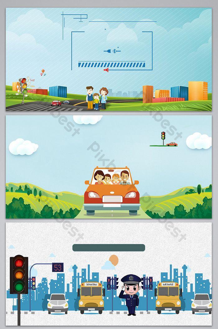 حركة حضارية آمنة للسفر خلفية لوحات Pikbest Traffic Safety Background Design Background