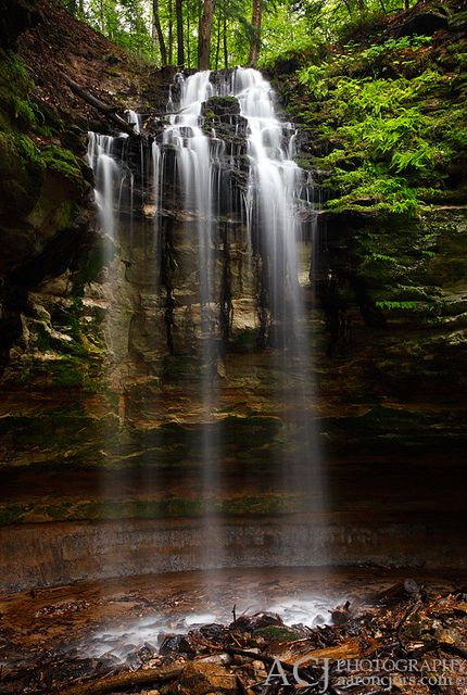 Ambience - Tannery Falls (Pictured Rocks National Lakeshore - Upper Michigan) by Aaron C. Jors, via Flickr