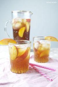 selbst gemachter pfirsich eistee   homemade peach ice tea (vegan) ❤