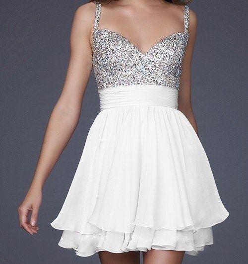 La Femme White Cocktail Dress @ RissyRoos (More Colors On Website)