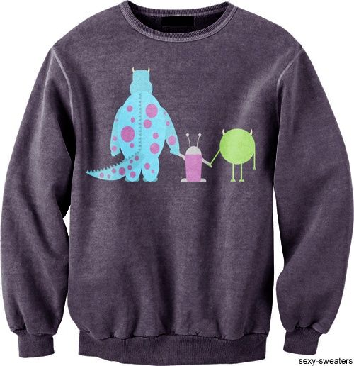 Monsters inc... I would wear this sweater like nobody's business.