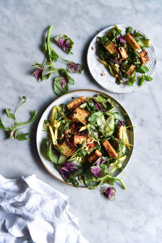 Vegan Vietnamese Salt And Pepper Tofu Salad