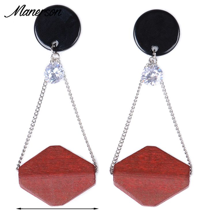 New Long Wooden Hollow Earings Fashion Bohemain Women 2016 Big Jewelry Dangle Boho Water Drop Female Earring Pendant Accessory