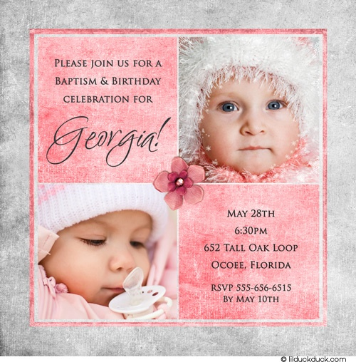 Christening thank you wording baptism celebration thank baptism cu1221 girls 1st birthday and christening invitation stopboris