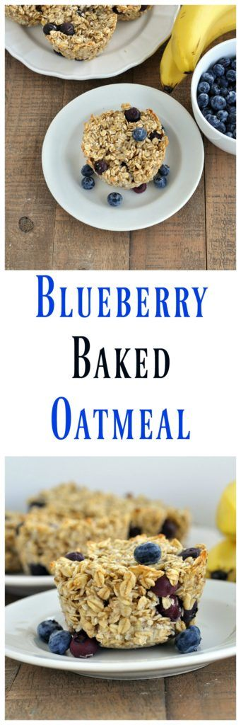 Healthy Blueberry Baked Oatmeal. An easy and tasty recipe you can make ahead. Great for meal plans. Vegan and gluten free too.