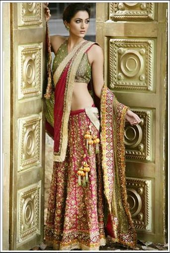 Riot Of Colors For Years The Brides Wedding Outfit Was Not Expressed Beyond Classical Red Lehenga This Season Bridal Fashion Is More Stylized And