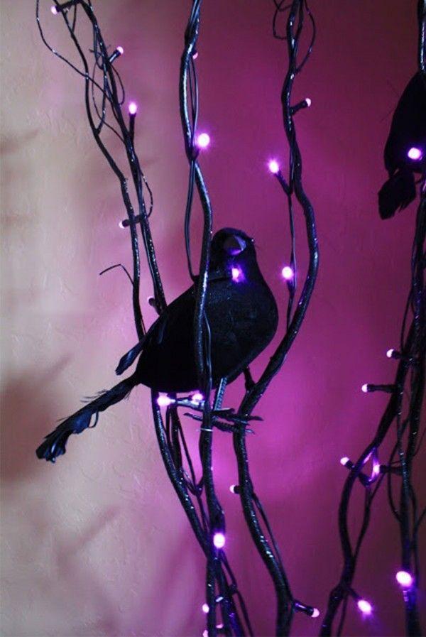 Picture Purple Halloween Decor Ideas
