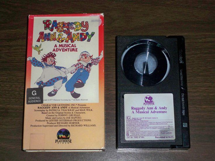 RAGGEDY ANNNIE & RAGGEDT ANDY * A MUSICAL ADVENTURE - BETA RARE - 1979 Didi Conn PLAYHOUSE