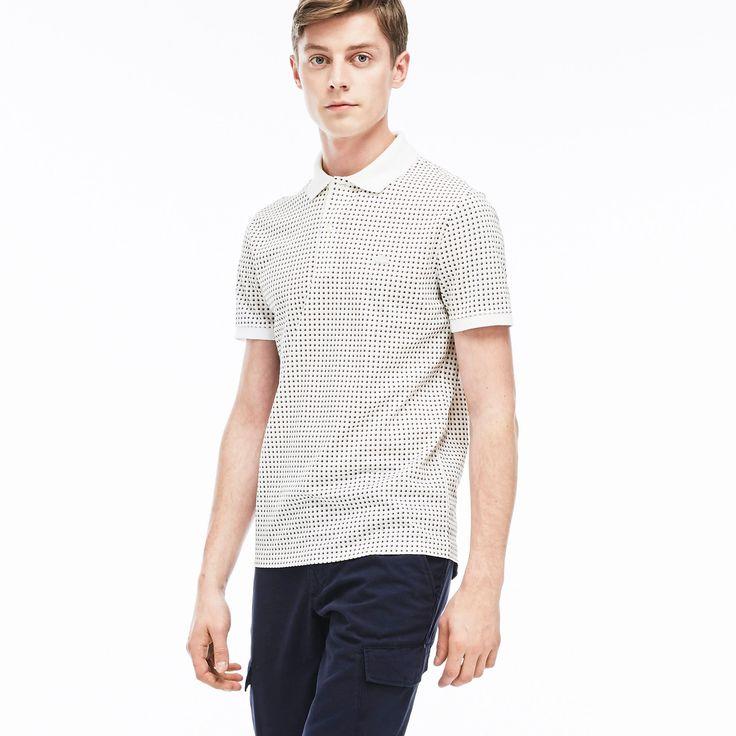 "Men's ""Kinetic"" Print Piqué Polo Shirt | LACOSTE"