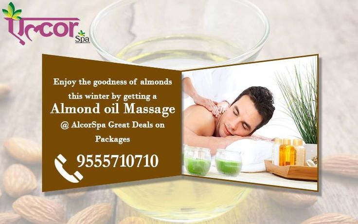 Time to relax yourself with Almond oil massage this winter. Great deals on packages waiting for you all... Rush to avail the best!! For Appointments Call: 9555710710 #AlcorSpa #SpaServices #Beauty_and_Spa #BodyMassage