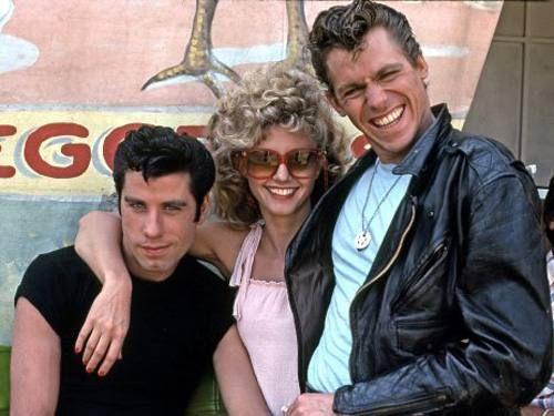 Grease - Nos Tempos da Brilhantina - 1978 John Travolta, Olivia Newton-John e Jeff Conaway.