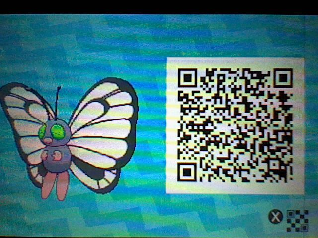 My Shiny butterfree, Apple Frittr!  First Shiny Pokemon i've met in the game! QR code included!