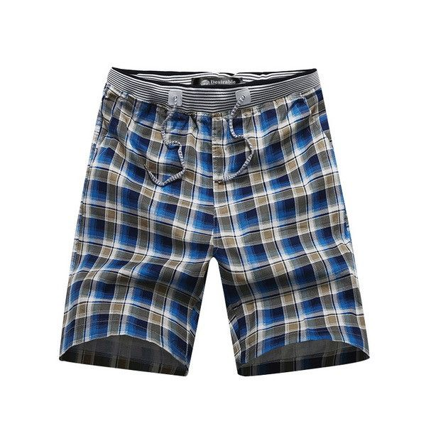 Men Summer Bermudas Shorts Drawstring Waist Cotton Camouflage Shorts Home