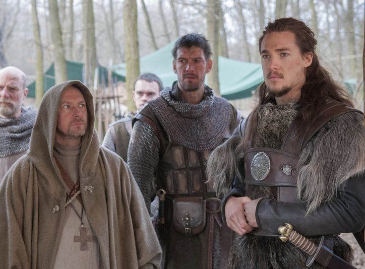 "Alexander Dreymon as  Uhtred of Bebbanburg (with Ian Hart as father Beocca and Adrian Bower as Leofric) in ""The Last Kingdom"" Season 1 http://www.imdb.com/title/tt4179452"
