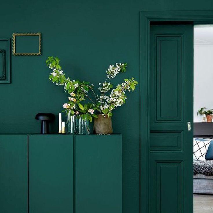 les 25 meilleures id es de la cat gorie mur vert sur pinterest murs verts parois de chambre. Black Bedroom Furniture Sets. Home Design Ideas