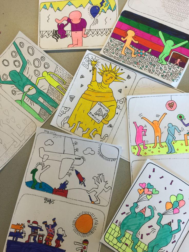 Keith Haring, klas 1 vmbo, Corlaer College Nijkerk
