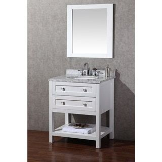 Website With Photo Gallery Shop for Stufurhome Marla inch White Single Sink Bathroom Vanity with Mirror Get