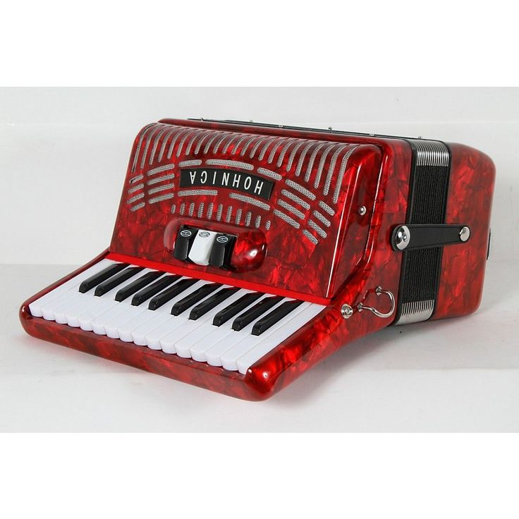 Hohner 48 Bass Entry Level Piano Accordion Red 888366007013