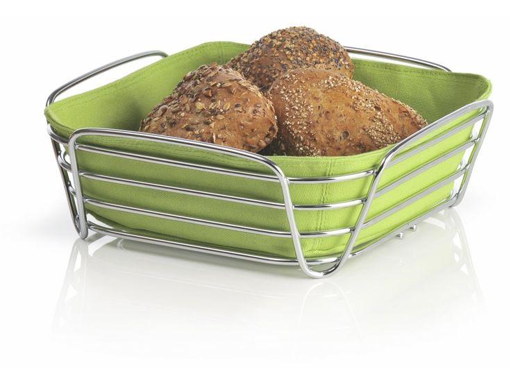 Pochrómovaný košík na chlieb Delara patrí k elegantnému stolovaniu. Má farebnú…