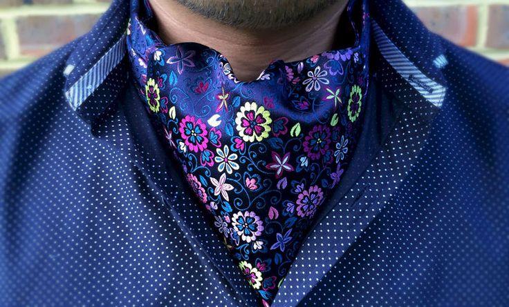 OLEANDER Woven Silk Cravat  #menswear #style #cravat #ascot #cravats #silkcravat #ascottie #ascots #silkascot #silkcravats #mens #fashion #dapper #dandy #groom #wedding #groomswear #weddingidea #weddinginspiration #floral #flowers #botanical