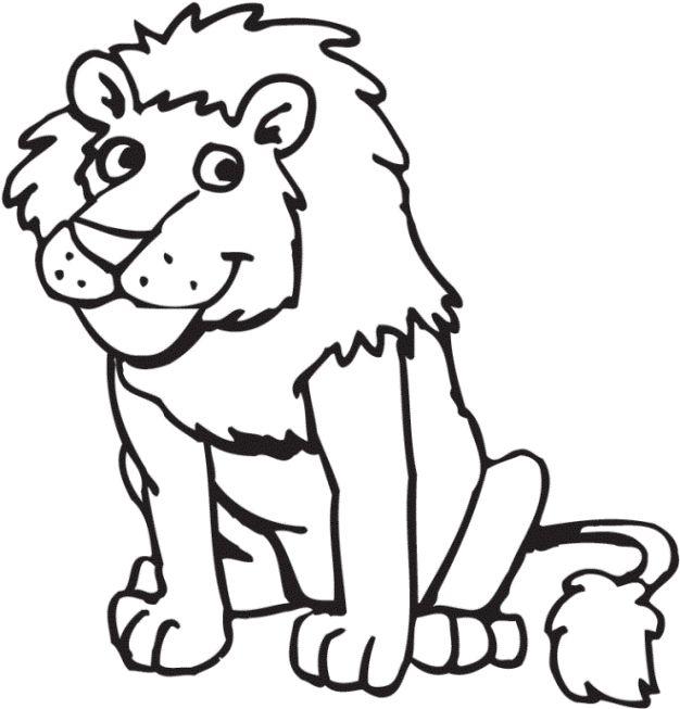 löwe ausmalbild – Ausmalbilder für kinder   Lion coloring ...