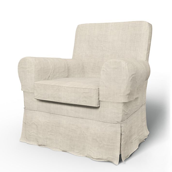 Replacement covers for ikea chairs!! Jennylund, Armchair Covers, Armchair, Loose Fit Country using the fabric Rosendal Pure Washed Linen Unbleached