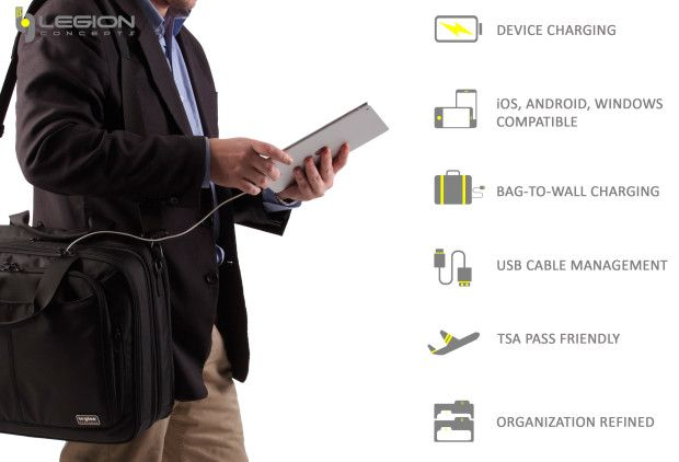 Legion Concepts-Ultimate Device Charging Briefcase   Indiegogo