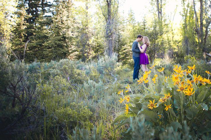 Purple Dress Casual Engagement Fashion Idea - Photo by Amy Galbraith Photography for Bisou Bride Blog - Jackson Hole