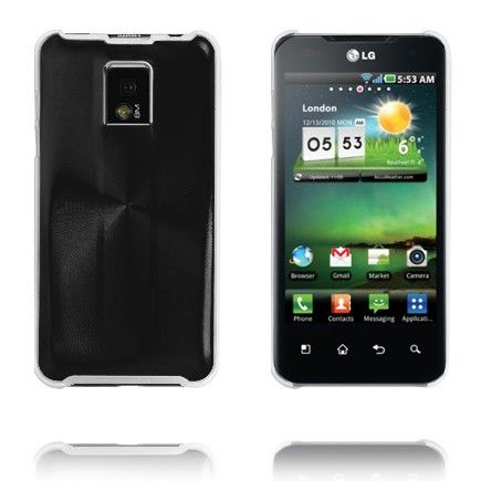 Aluminiums Shield (Sort) LG Optimus 2X P990 Cover