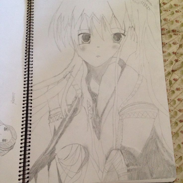 Anime Girl (mine) #drawing #sketching
