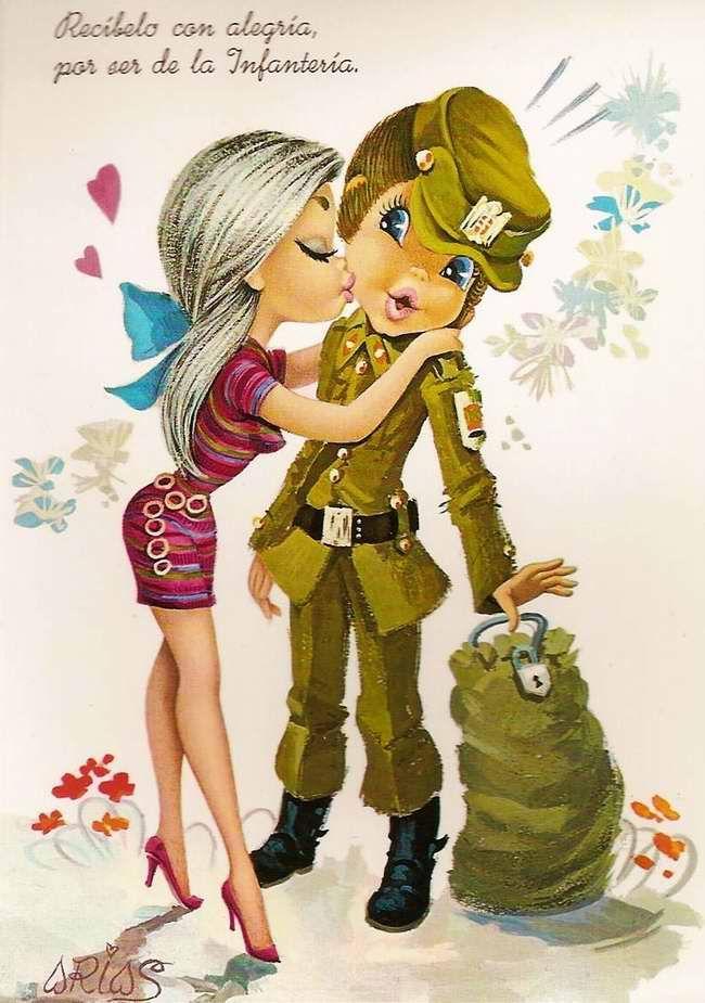 Признание в любви в открытках армия, английском