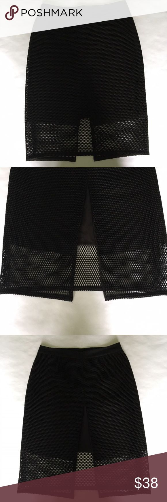Ann Taylor – Black Pencil Skirt Worn only once. Black mesh overlay with black slip. Skirt length: 26 inches. Ann Taylor Skirts Pencil