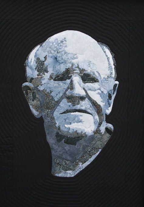 Portrait of my father for his 80th birthday. In the style of a Greek bust. Made in 2015 by Mary Jane Sneyd
