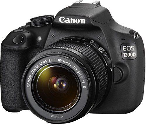 Canon EOS 1200D Appareil photo numérique Réflex Kit Boîtier + Objectif 18-55 Mm IS II 18 Mpix Noir