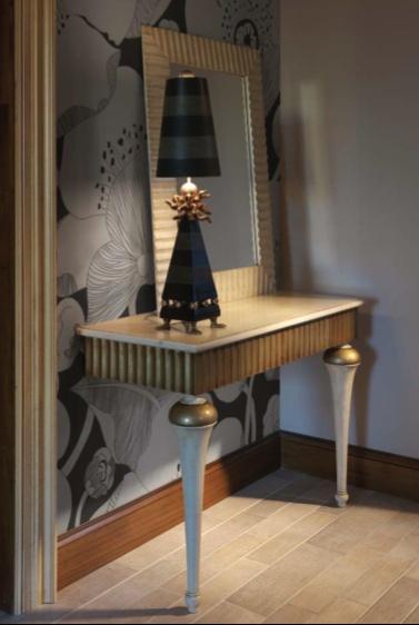 Испанская мебель ручной работы > Дизайнерская мебель > Коллекция Классика > Лола Гламур (Испания) Консоль LG477, зеркало LG475