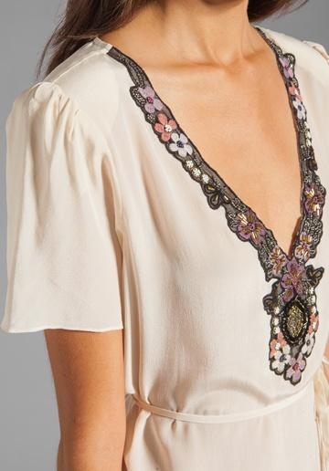 tulip sleeve blouse