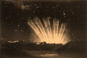 Great Comet of 1744 with 6 tails.  Seen while traveling thru Courland (now in Latvia) by the young Catherine the GReat