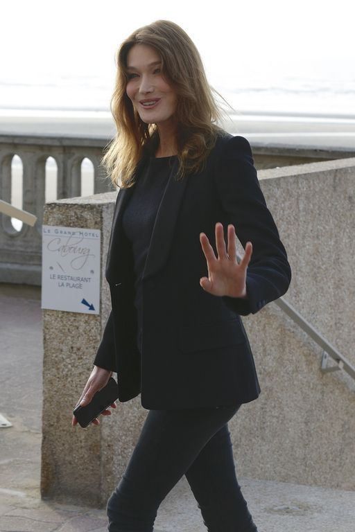Carla Bruni-Sarkozy attends the the 30th Cabourg Film Festival on June 9, 2016 in Cabourg, France