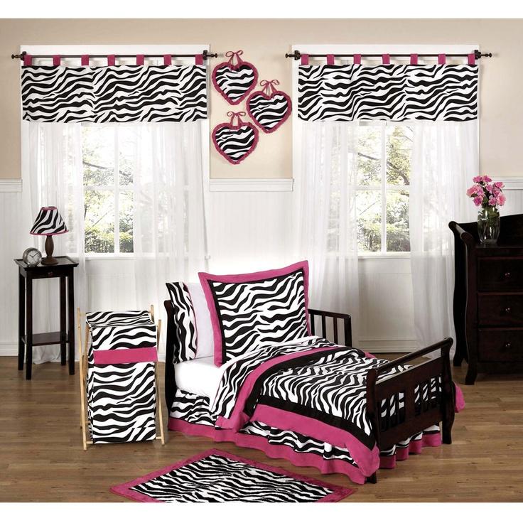 pink zebra bedroom zebra pink toddler bedding set by jojo designs - Zebra Bedroom Decorating Ideas