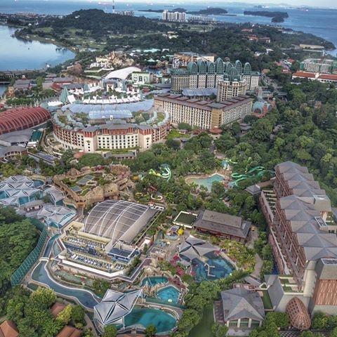 View of Resorts World Sentosa from the top. Hang in there everyone, two more days to the weekend!