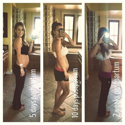 weight lose one month after giving birth