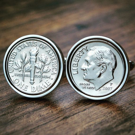 Dime Cufflinks  10 Year Anniversary  2007 by JFoxCufflinks on Etsy  #Cufflinks, #Dime Cufflinks, #Coin #Cufflinks, #Dime Coins, #Birth Year Cufflinks, #Birth Year Gift, #Coin, #Cuff Links, #American Cufflinks, #Groom Cufflinks, #10 Year Anniversary Gift, #10 Year Wedding Gift, #Groomsmen Gifts, #2007 Gift.