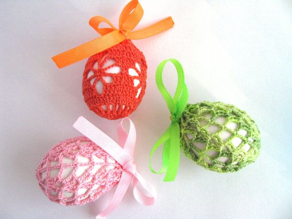 Crochet Easter Egg Covers Pattern Two Crochet by EvgeniyAndAlla