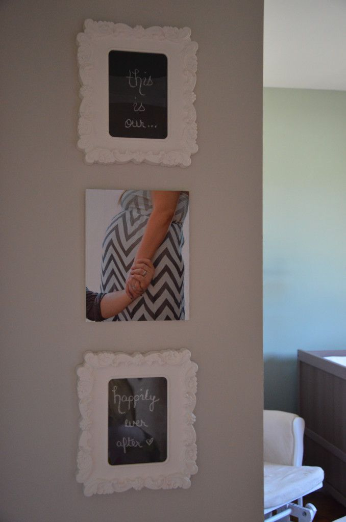 I like the idea of having something on the wall when you first walk in. Even if it's their schedules!